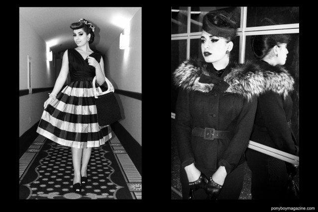 """B&W images of the beautiful Jasmin """"Vintage Vandal"""" Rodriguez. Ponyboy Magazine."""