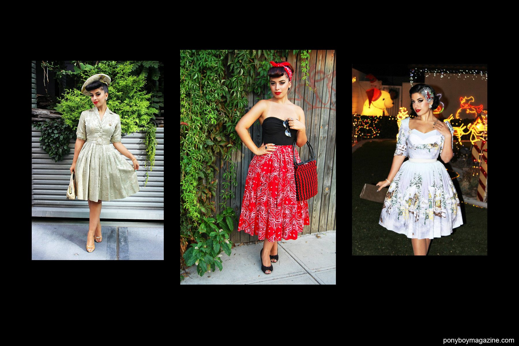 Various 50's full-skirted looks on Jasmin