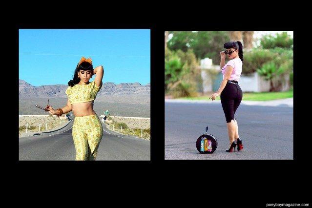 """Jasmine """"Vintage Vandal"""" Rodriguez, photographed in Las Vegas. Ponyboy Magazine."""