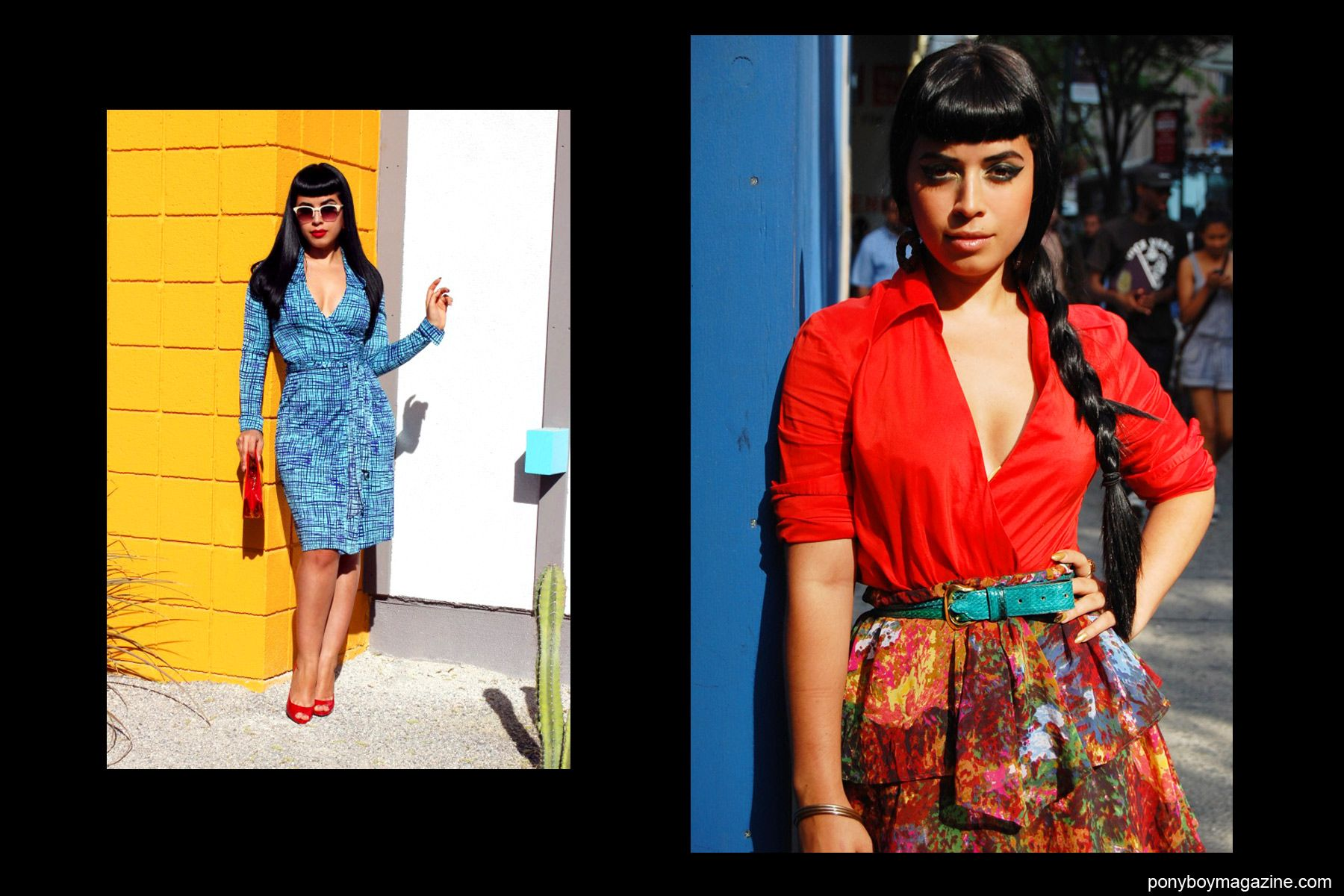 Vintage style photographed on Jasmin Rodriguez, also known as Vintage Vandal. Ponyboy Magazine NY.