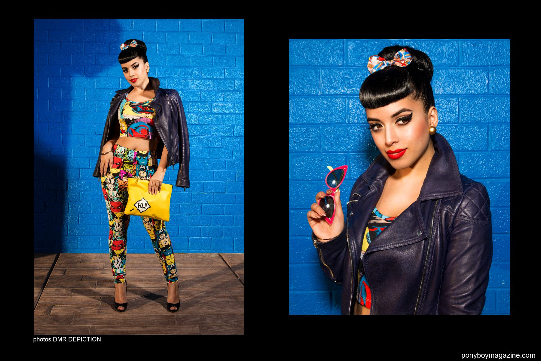 Photos of Jasmine Rodriguez, also known as Vintage Vandal, by DMR Depiction. Ponyboy Magazine NY.