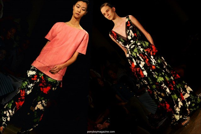 Floral fashions by designer Peter Som, S/S15 collection. Photos by Alexander Thompson for Ponyboy Magazine.