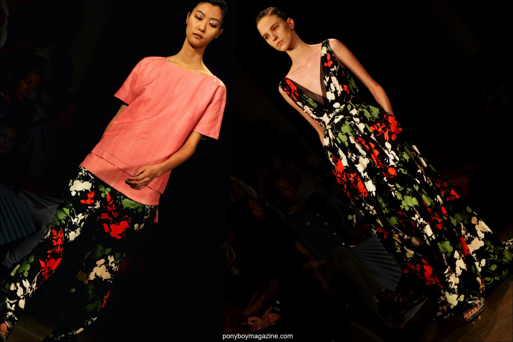 Floral fashions by designer Peter Som, S/S15 collection New York. Photos by Alexander Thompson for Ponyboy Magazine.