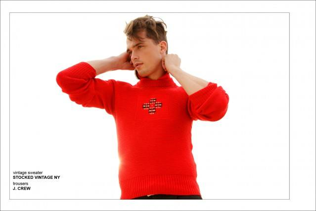 """Male model Dutty Wruck photographed by Alexander Thompson for Ponyboy Magazine men's editorial """"Hyannis Port Style""""."""