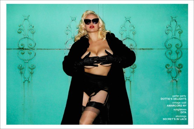 Blonde bombshell Gia Genevieve, with the Wilhemina Agency NY, photographed for Ponyboy Magazine by Alexander Thompson.