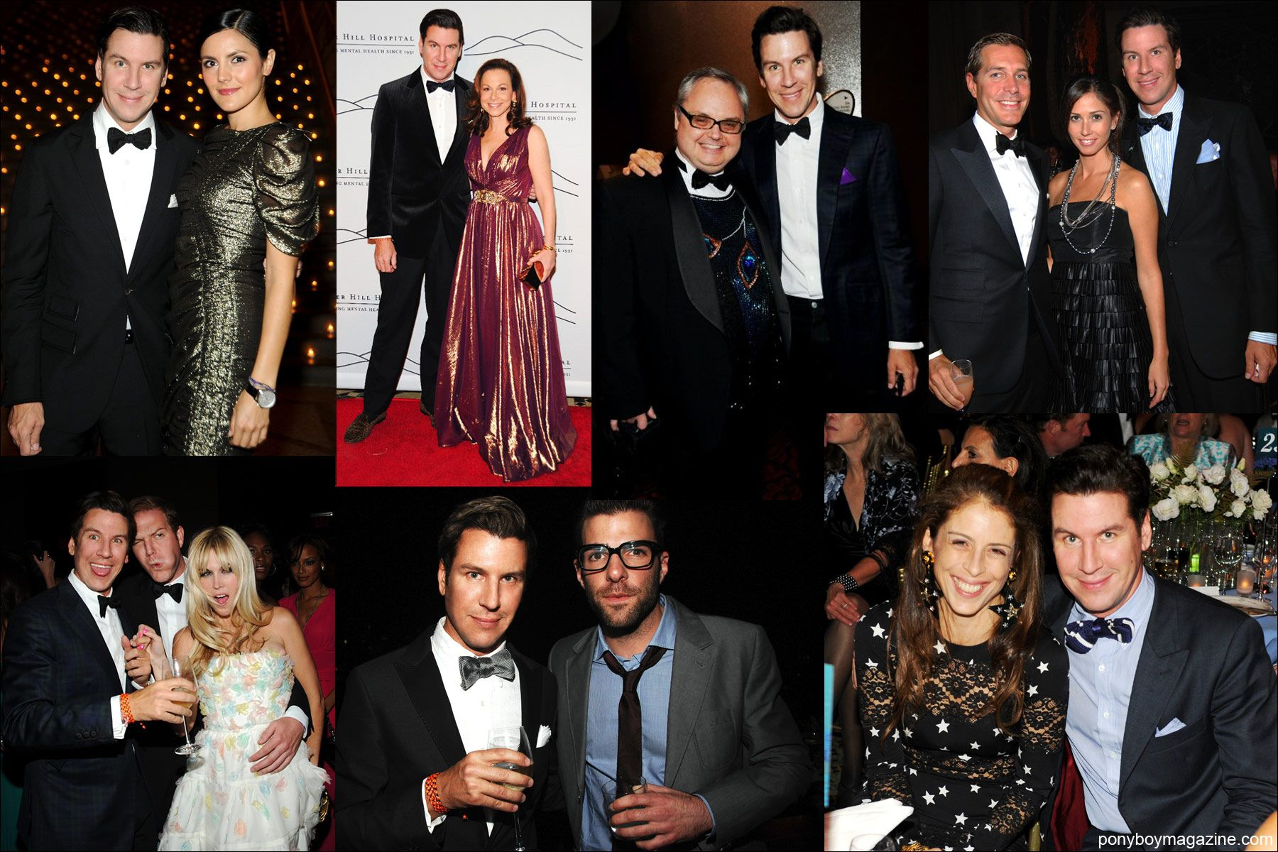 Photos of editor & socialite Peter Davis at black tie affairs in New York City. Ponyboy Magazine.