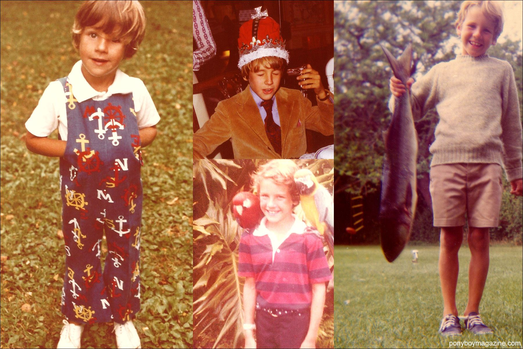 Assorted childhood photos of Peter Davis. Ponyboy Magazine.