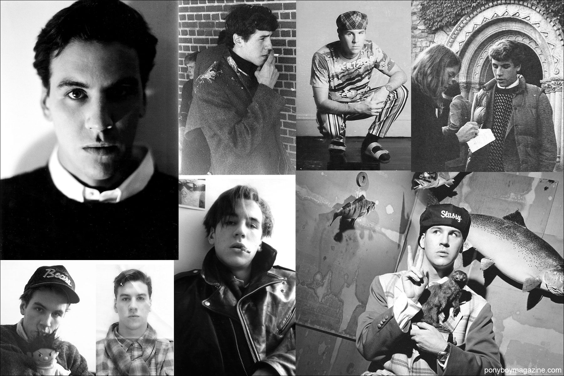 Assorted B&W photos of a young Peter Davis. Ponyboy Magazine.