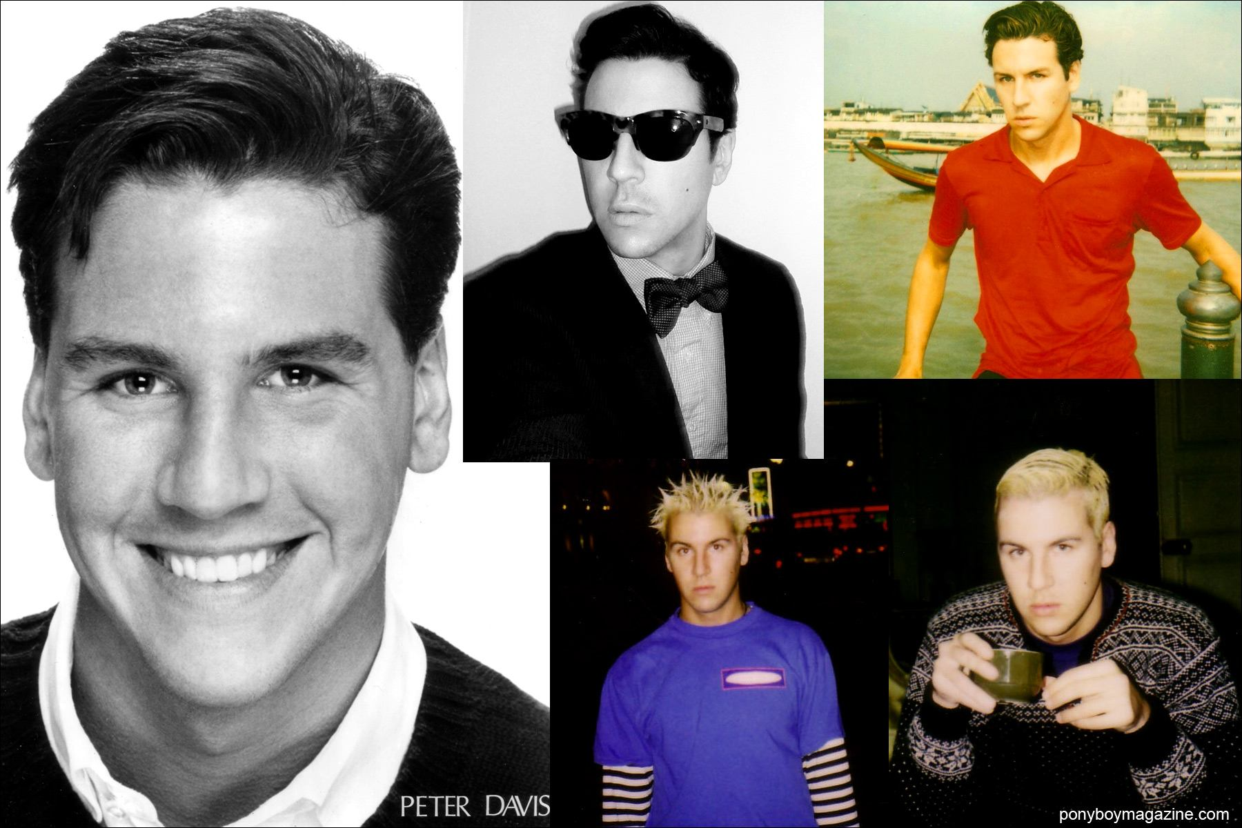 Snapshots of a young Peter Davis. Ponyboy Magazine.