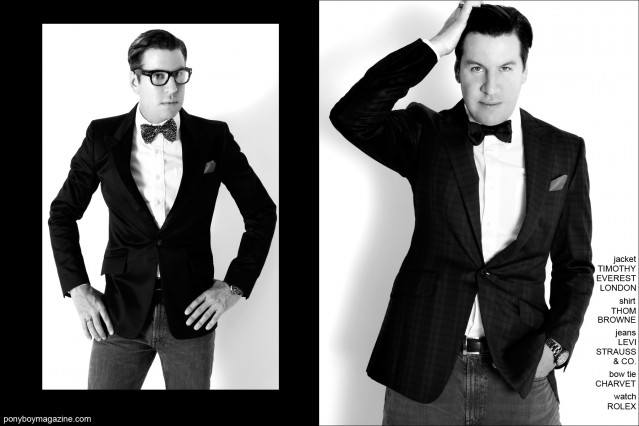 Socialite and editor Peter Davis for Ponyboy Magazine. Photographed by Alexander Thompson.