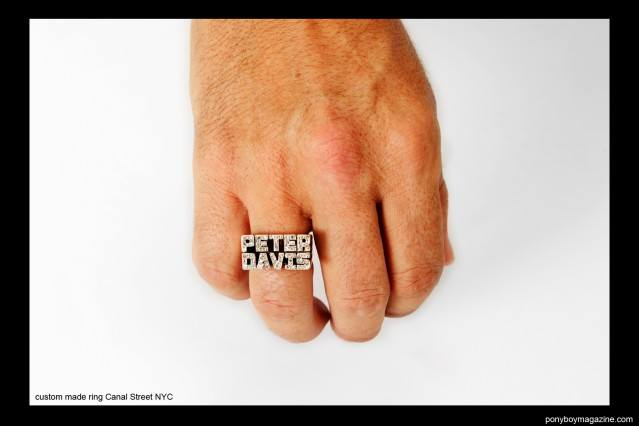 A ring owned by Peter Davis. Photographed for Ponyboy Magazine by Alexander Thompson in New York City.