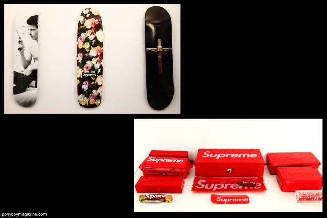 Supreme products owned by Peter Davis. Photographed by Alexander Thompson for Ponyboy Magazine.