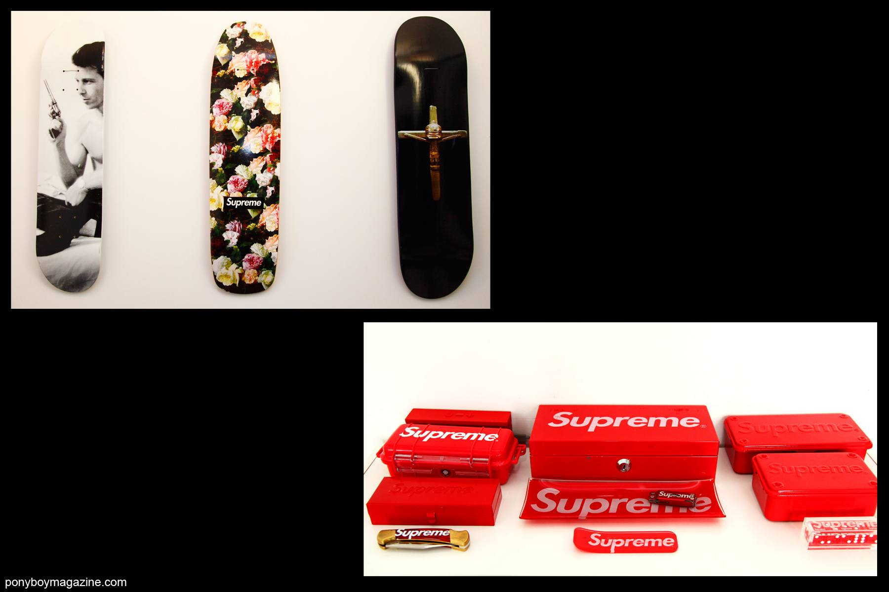 Supreme products owned by editor Peter Davis. Photographed by Alexander Thompson for Ponyboy Magazine.