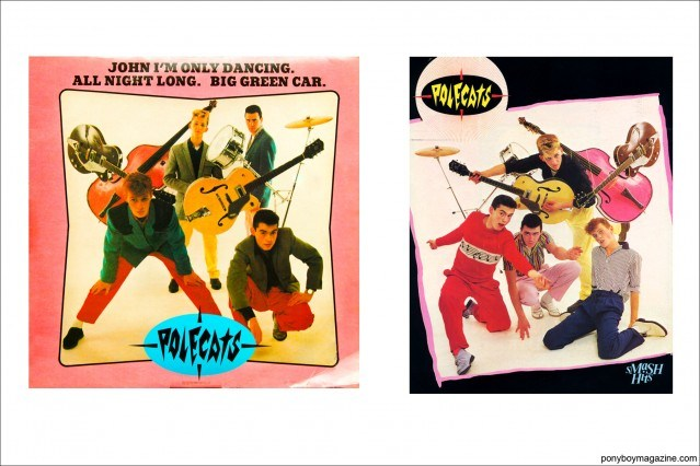 Colorful album covers of Neo-rockabilly band Polecats. Ponyboy Magazine.