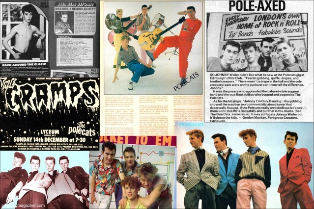Press clippings of Tim Polecat and The Polecats. Ponyboy Magazine.