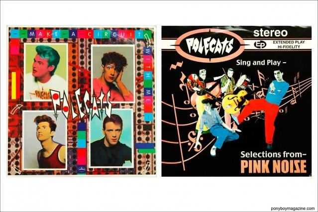 Assorted album covers for UK neo-rockabilly band Polecats. Ponyboy Magazine.