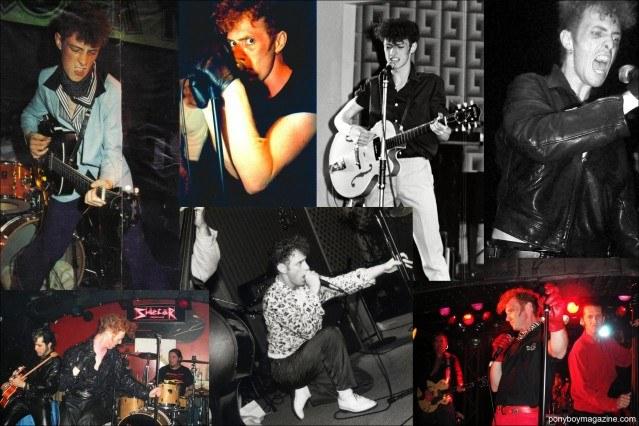 Live shots of lead singer Tim Polecat, from rockabilly band Polecats. Ponyboy Magazine.