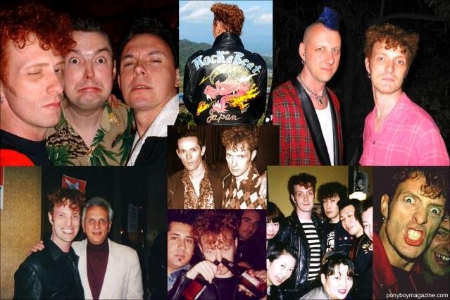 Snapshots of rockabilly singer Tim Polecat, from the Polecats. Ponyboy Magazine.