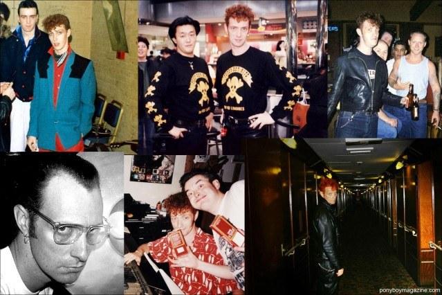 Assorted snapshots of Tim Polecat, lead singer for UK rockabilly band Polecats. Ponyboy Magazine.