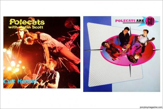 Record covers for UK rockabilly band Polecats. Ponyboy Magazine.