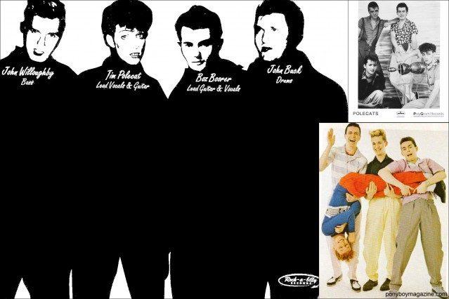 Press photos for 70's neo-rockabilly band Polecats. Ponyboy Magazine.