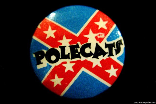 A vintage band button for the Polecats. Ponyboy Magazine.