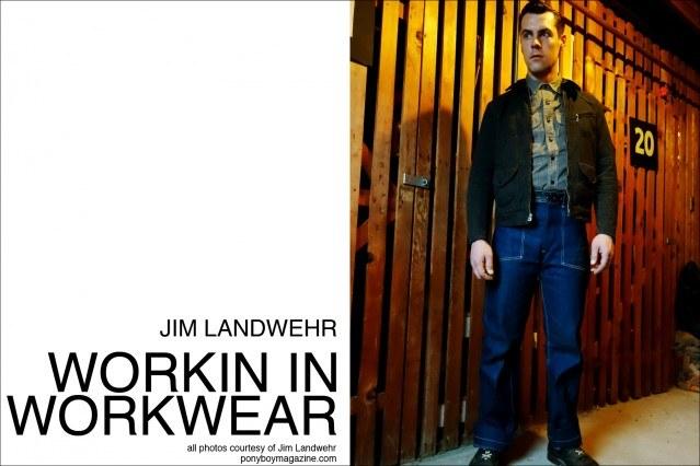 "Ponyboy Magazine profile on Jim Landwehr, from Instagram profile ""workin_in_workwear""."