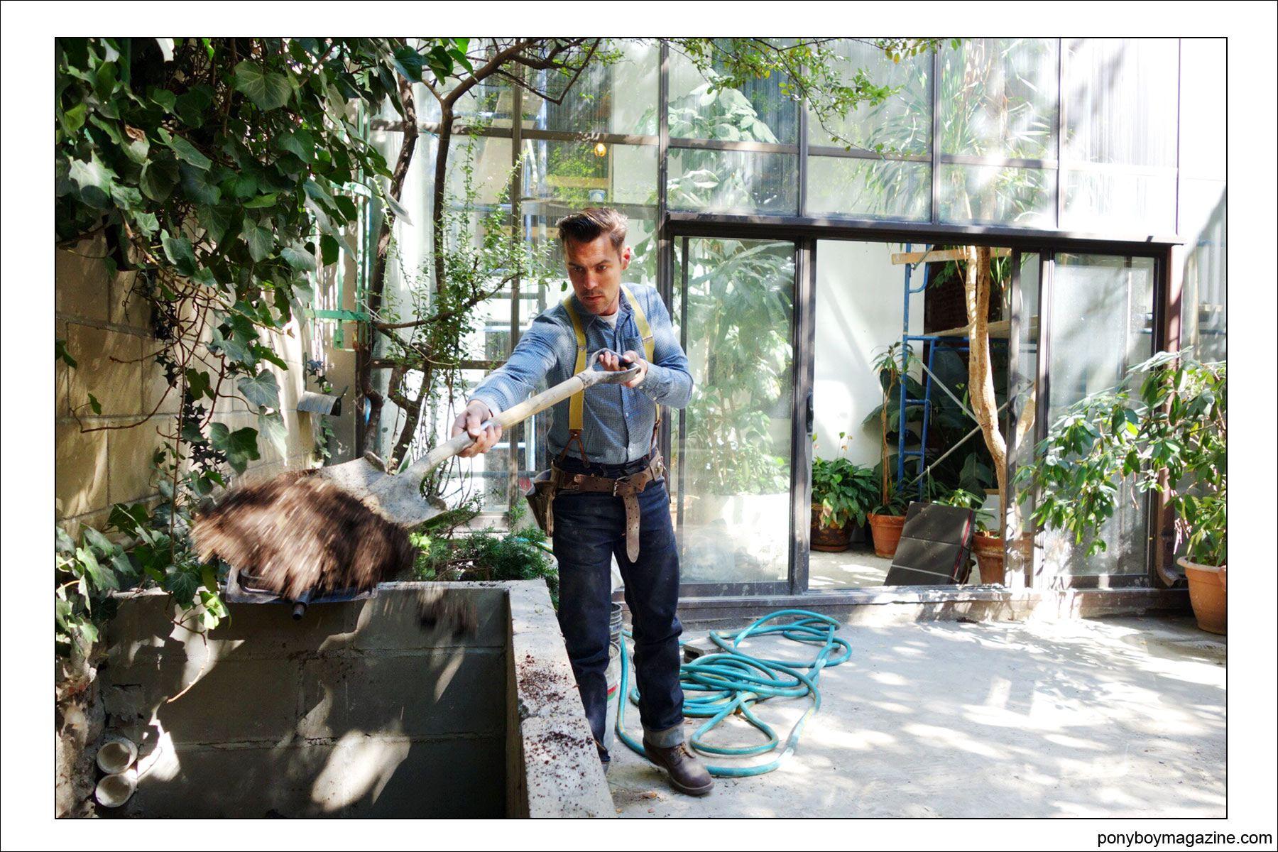 Jim Landwehr, hard at work, for Ponyboy Magazine.