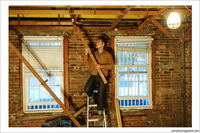 Hard at work, Ponyboy Magazine profile on carpenter Jim Landwehr.