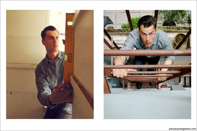 """Carpenter Jim Landwehr, from Instagram account """"working_in_workwear"""". Ponyboy Magazine."""