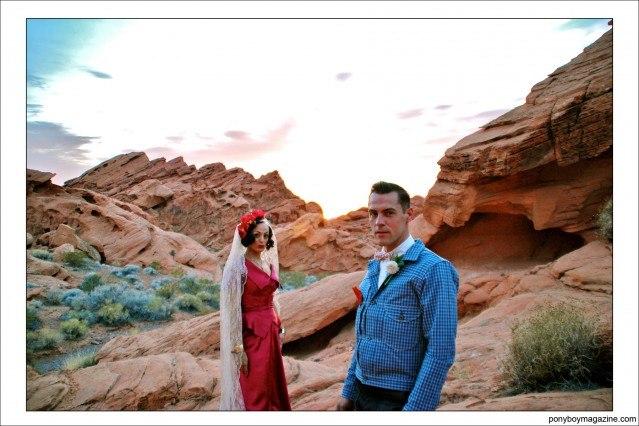 Jim Landwehr and lovely bride Tamara. Ponyboy Magazine.