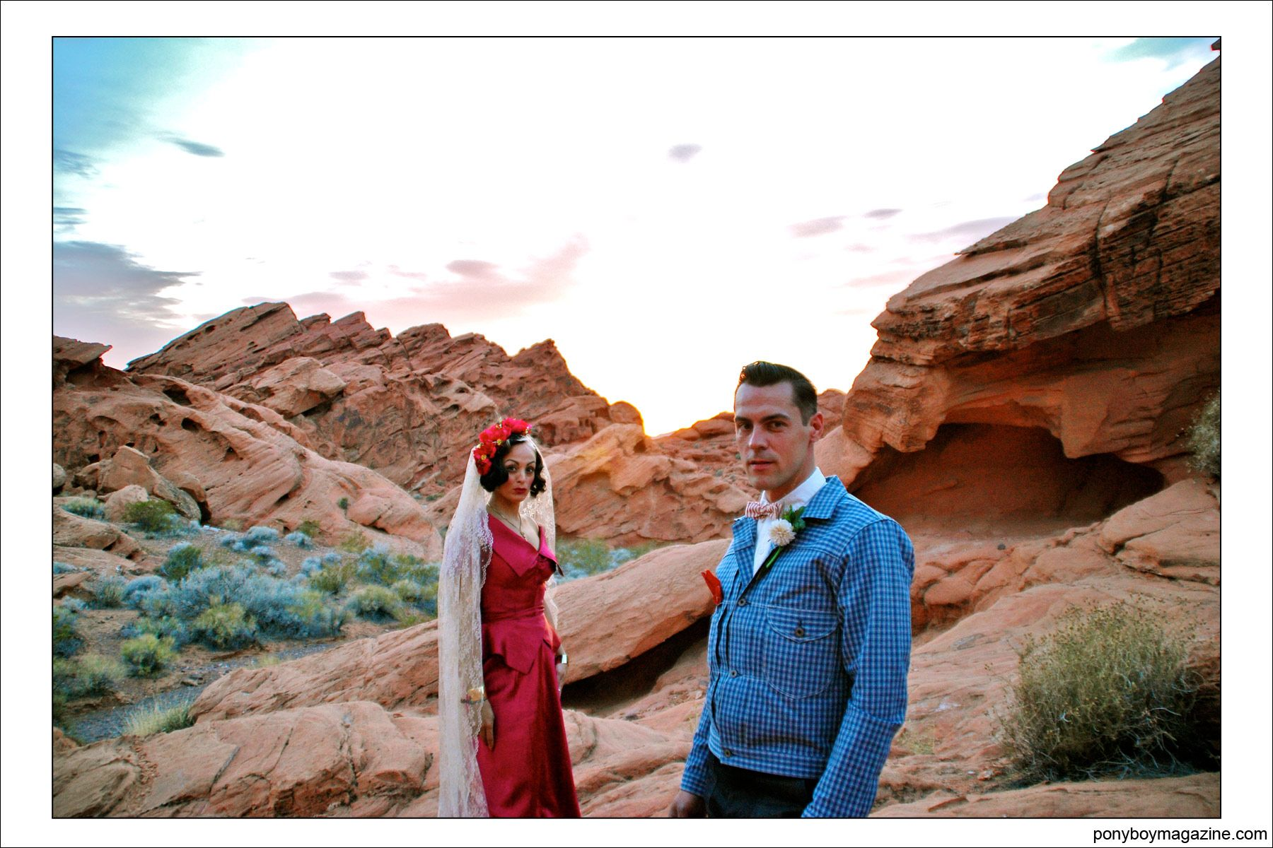 Jim Landwehr and lovely bride Tamara, for Ponyboy Magazine.