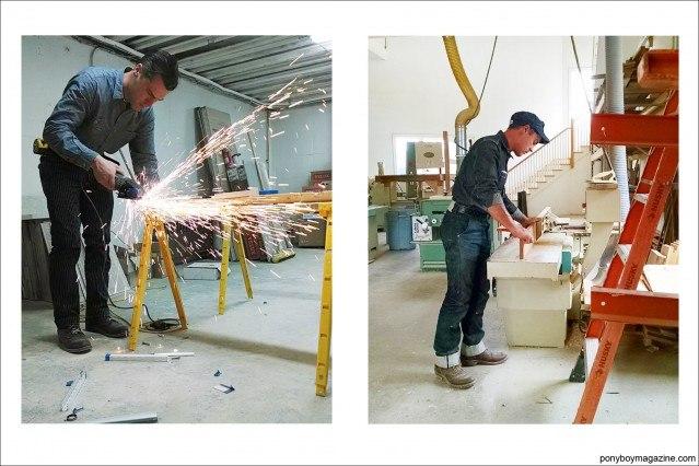 """Carpenter Jim Landwehr, from Instagram profile """"workin_in_workwear"""". Ponyboy Magazine."""