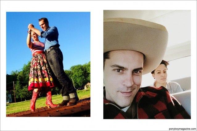 Photos of Jim and Tamara Landwehr. Ponyboy Magazine.