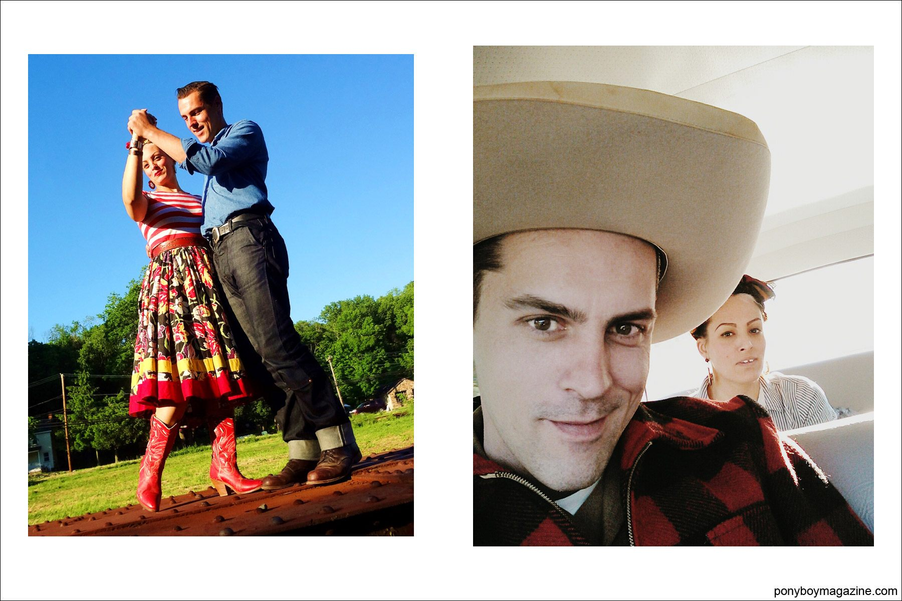 Photos of Jim and Tamara Landwehr, for Ponyboy Magazine.