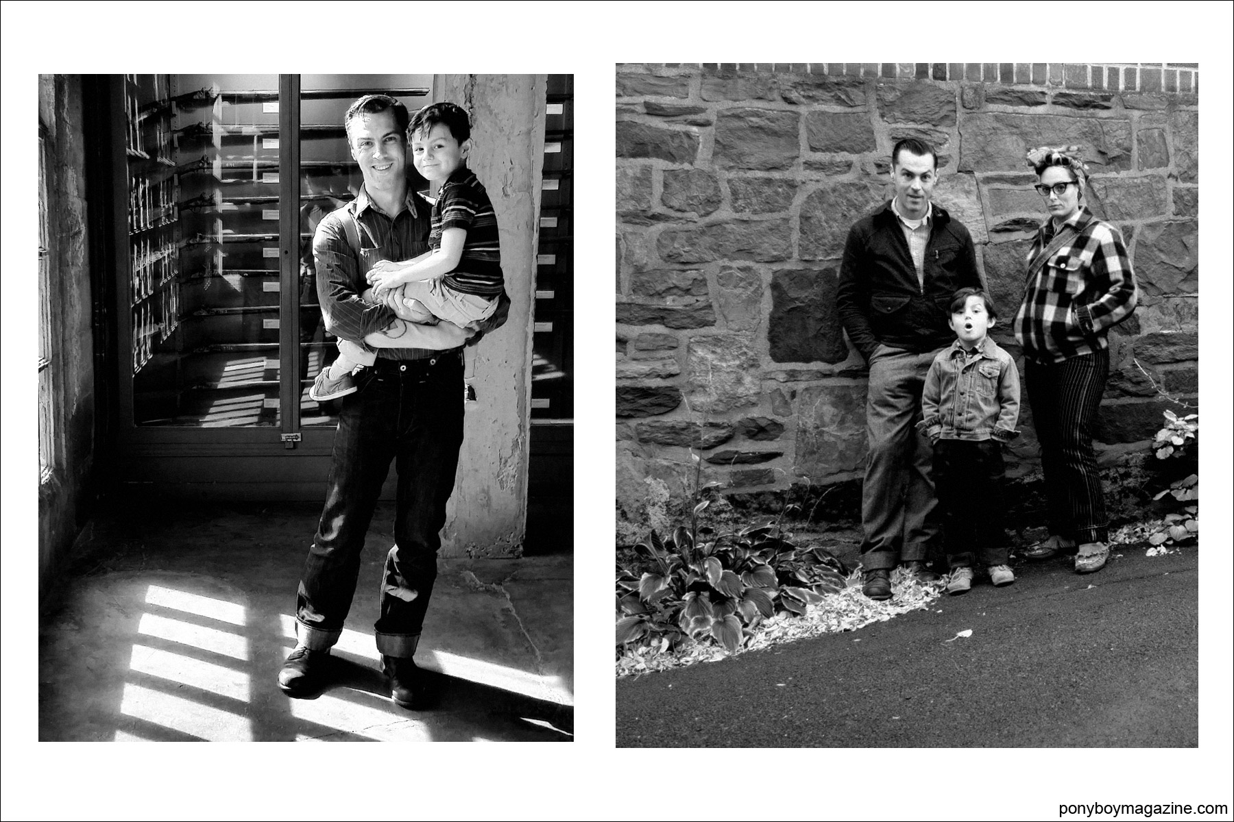 Family photos from the collection of Jim Landwehr, for Ponyboy Magazine.