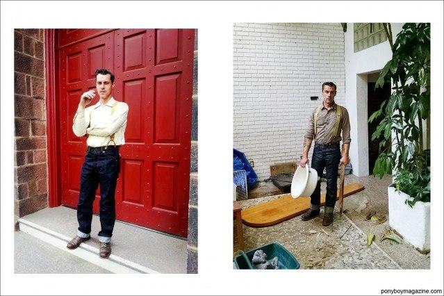 """Portraits of Mr. Jim Landwehr, also known as """"workin_in_workwear"""". Ponyboy Magazine."""