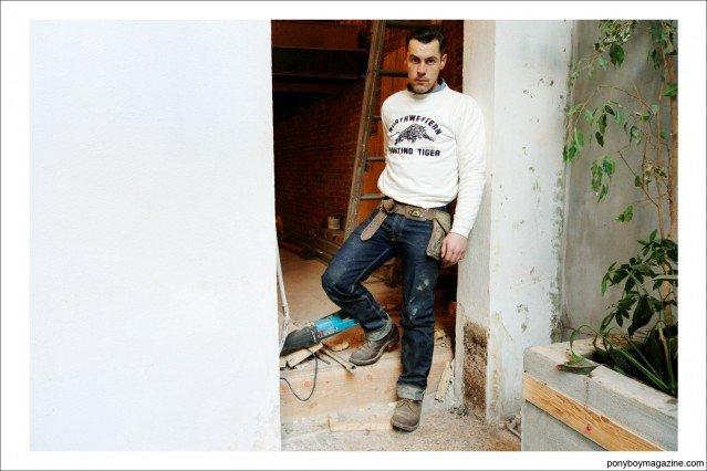 "Portrait of Jim Landwear, also known as ""workin_in_workwear"". Ponyboy Magazine."