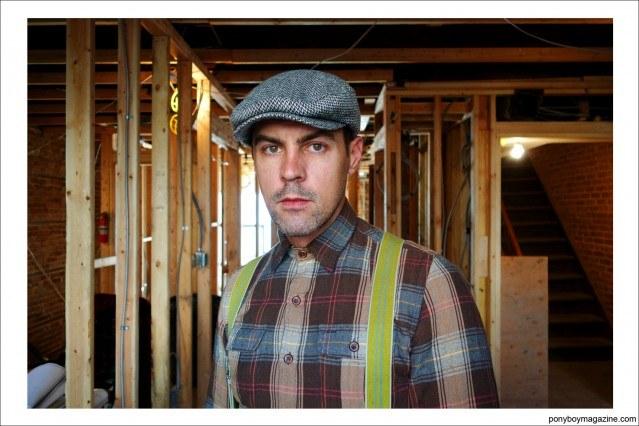 """Portrait of carpenter Jim Landwehr, from Instagram account """"workin_in_workwear"""". Ponyboy Magazine."""