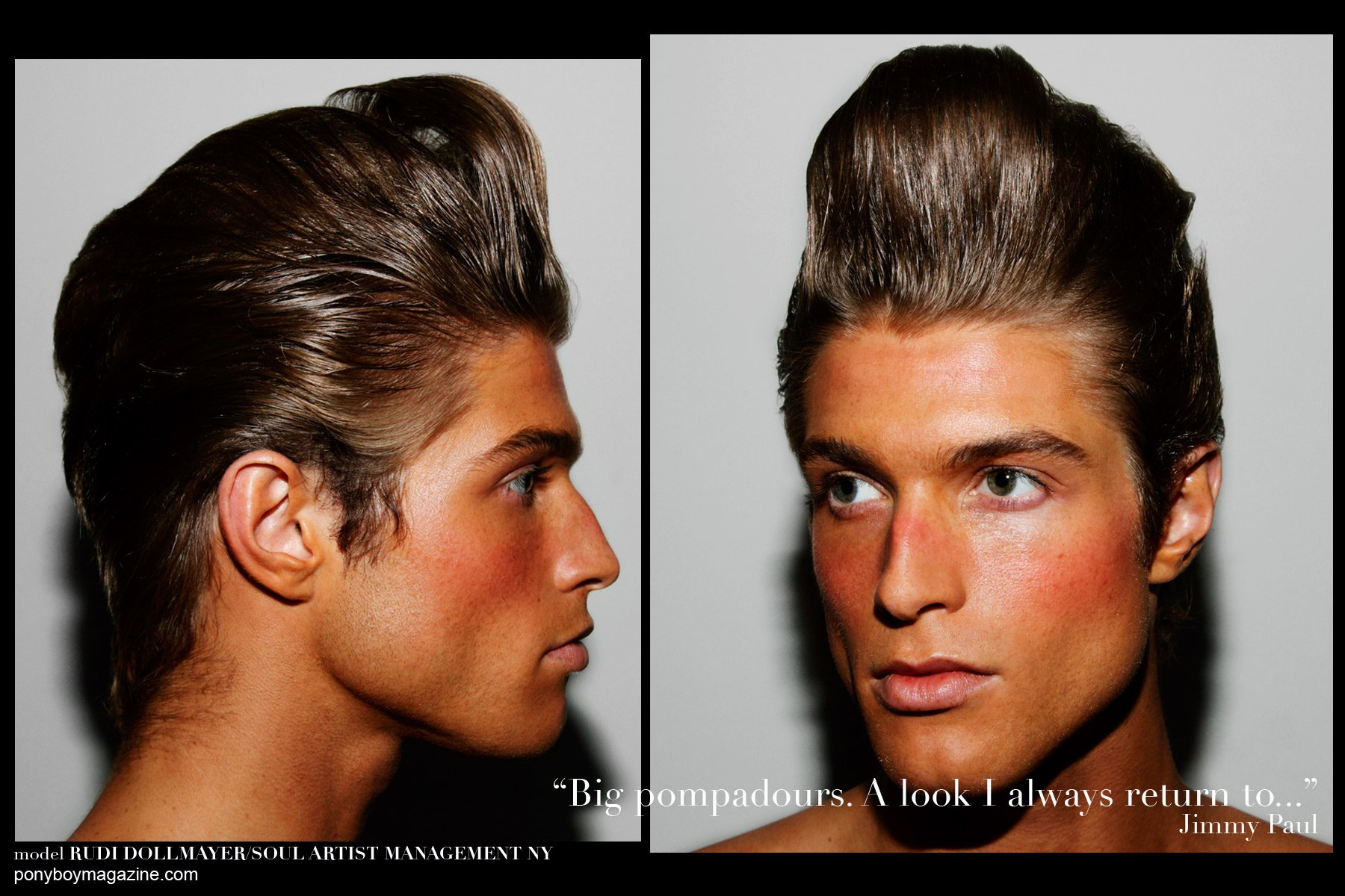 Male model Rudi Dollmayer from Soul Artist Management, photographed backstage at Martin Keehn S/S15. Hair by Jimmy Paul, with makeup by Marc Carrasquillo. Photographs by Alexander Thompson for Ponyboy Magazine.
