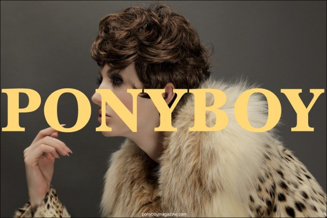 Halston wig Cover with Stella Rose Saint Clair. Photographed by Alexander Thompson for Ponyboy Magazine.