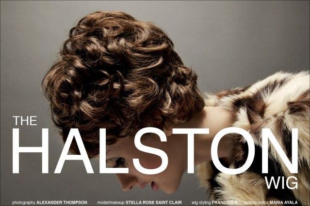 "Stella Rose Saint Clair stars in Ponyboy Magazine women's editorial ""The Halston Wig"". Photography by Alexander Thompson."
