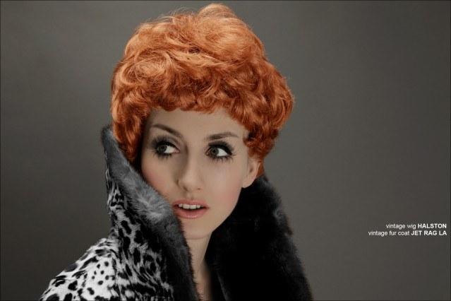 Stella Rose Saint Clair modeling a vintage Halston wig for Ponyboy Magazine. Photographed by Alexander Thompson.
