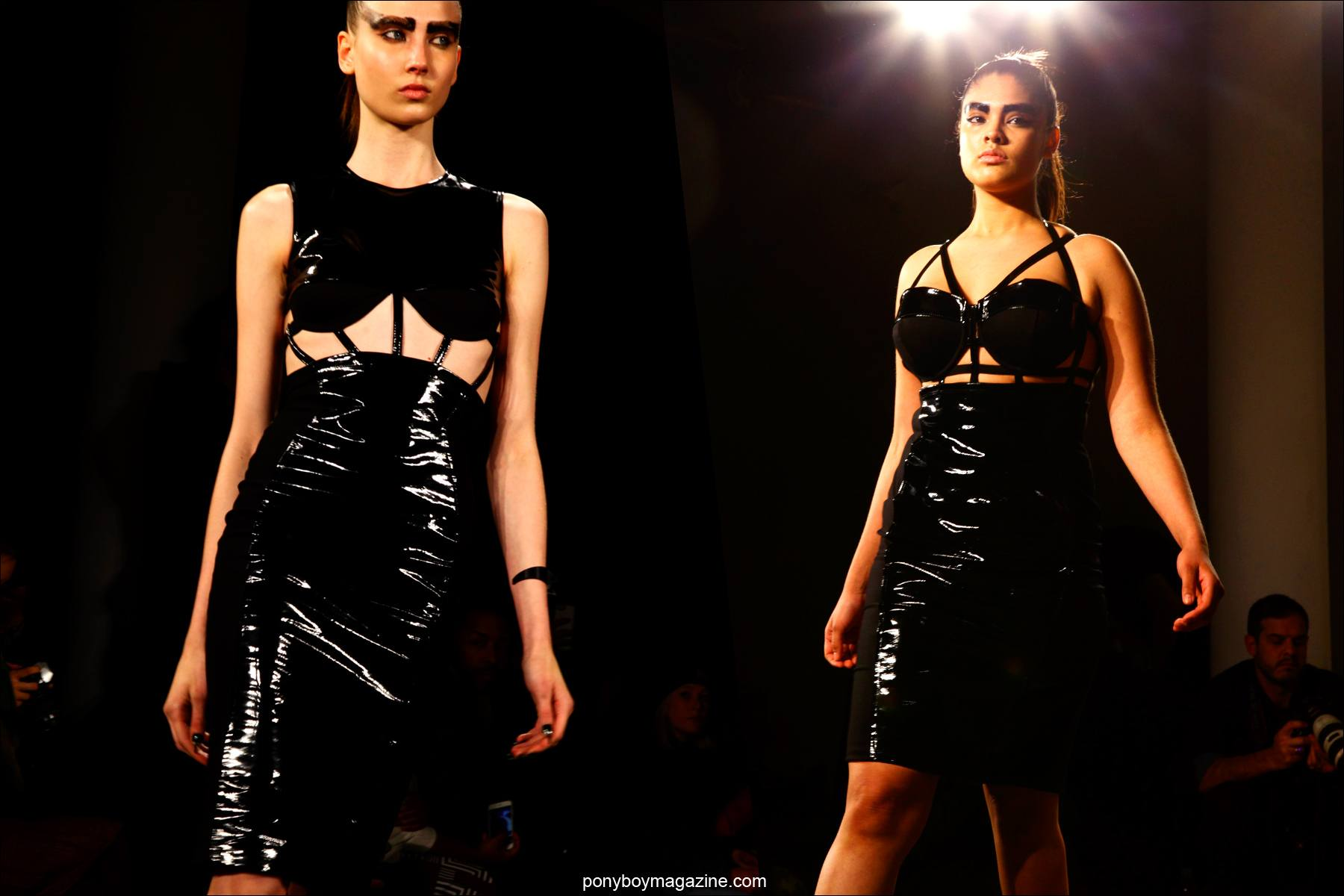 Fetish inspired dresses at Chromat F/W15 collection at Milk Studios in New York. Photos by Alexander Thompson for Ponyboy magazine.
