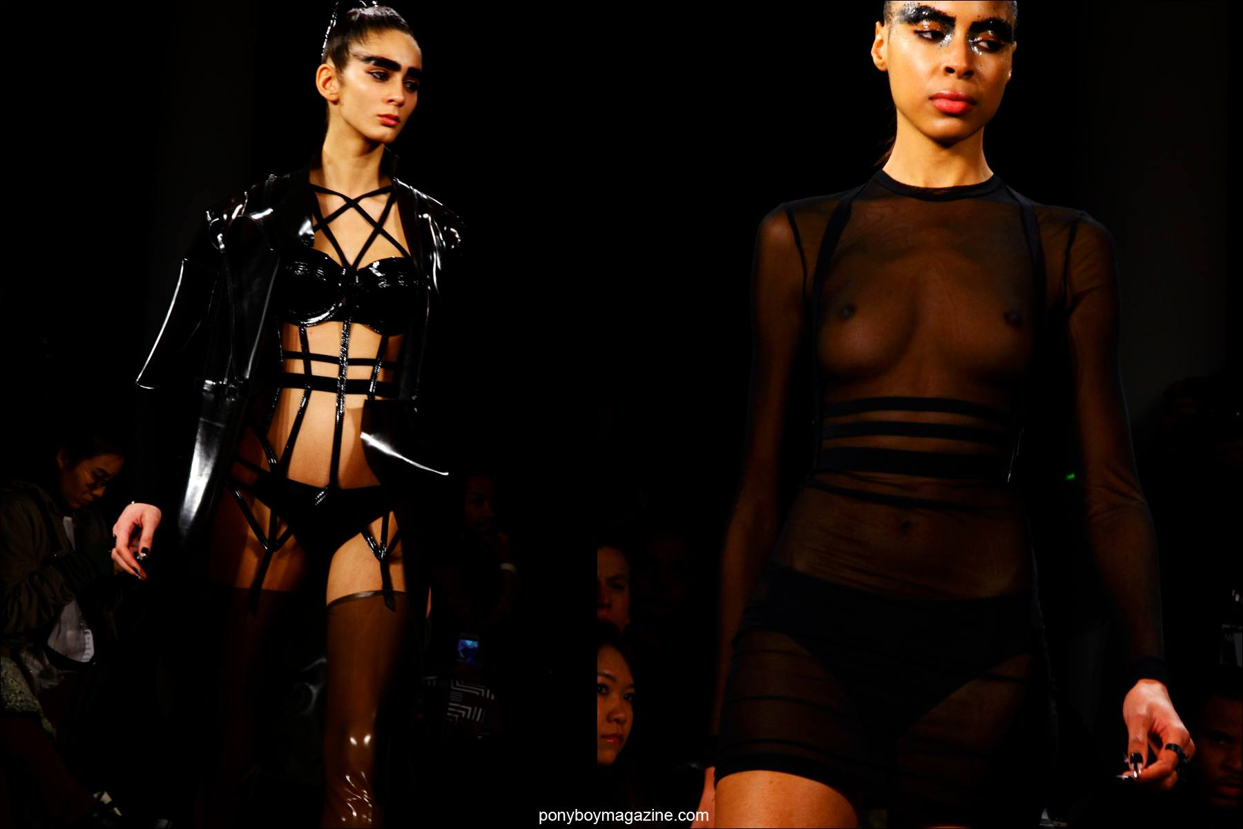 Futuristic fetish inspired designs at Chromat F/W15 collection in New York. Photographs by Alexander Thompson for Ponyboy magazine.