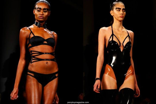 Structured designs at Chromat F/W15 collection. Photographed by Alexander Thompson for Ponyboy magazine in New York.