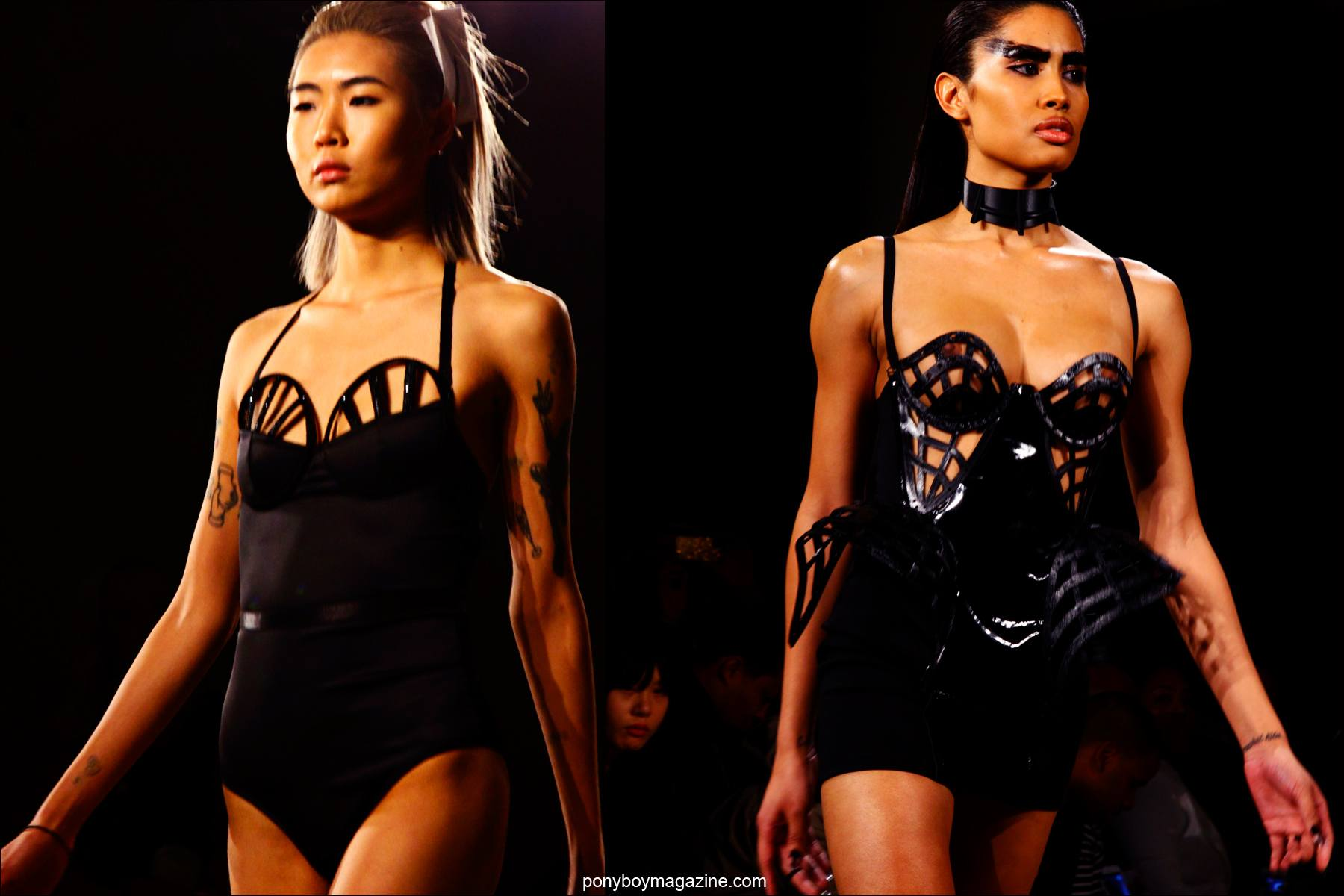 Provocative designs on the Chromat F/W15 runway at Milk Studios. Photos by Alexander Thompson for Ponyboy magazine.