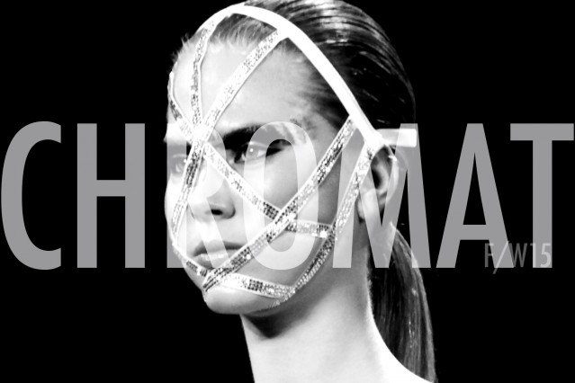 Swarovski face mask by Chromat F/W15 collection. Photographed at Milk Studios by Alexander Thompson for Ponyboy magazine.