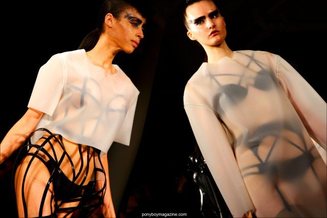 Latex creations by Chromat F/W15 collection. Photos by Alexander Thompson at Milk Studios for Ponyboy magazine.