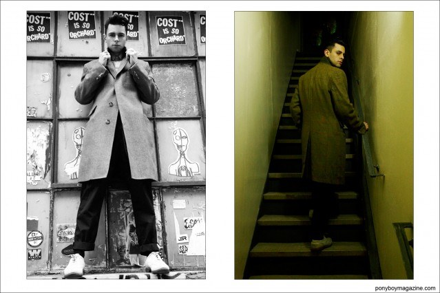 Photographs of New York City musician Justin Dean Thomas. For Ponyboy magazine by photographer Alexander Thompson.